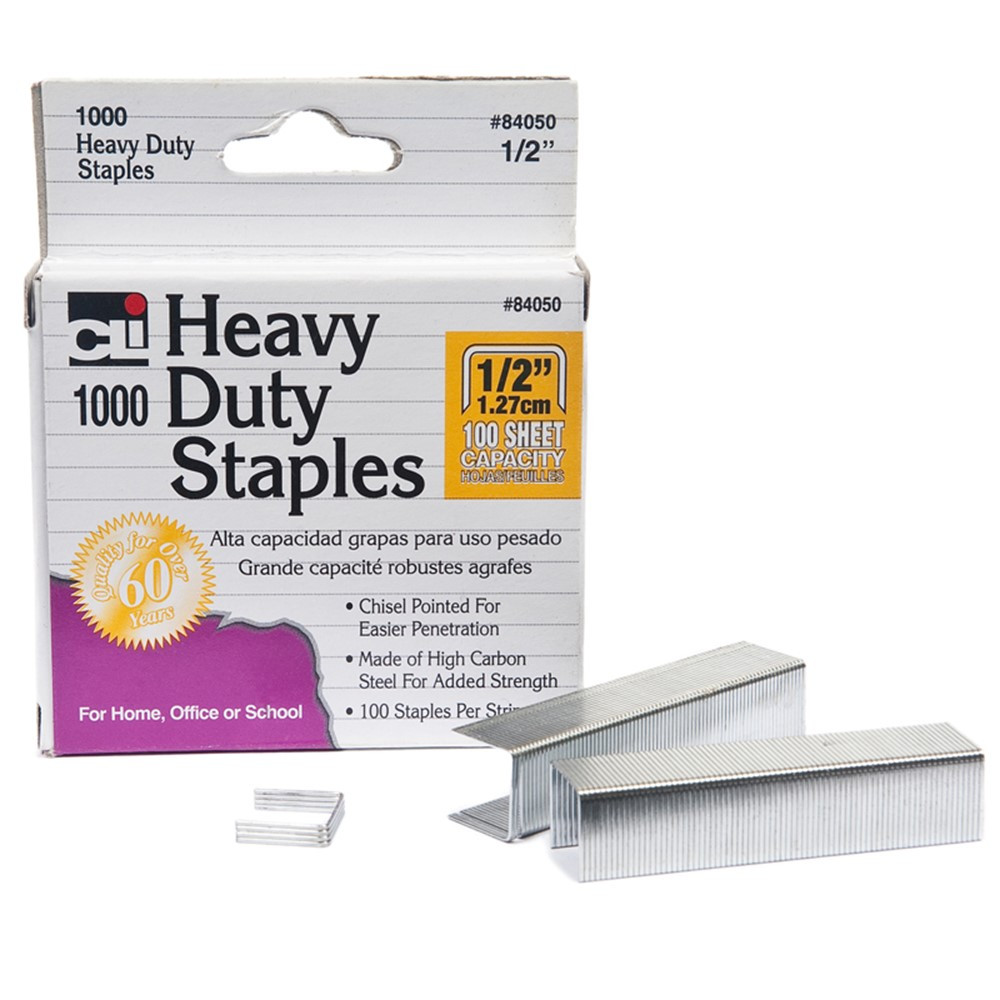 CHL84050 - Extra Heavy Duty Staples 1/2 in Staplers & Accessories