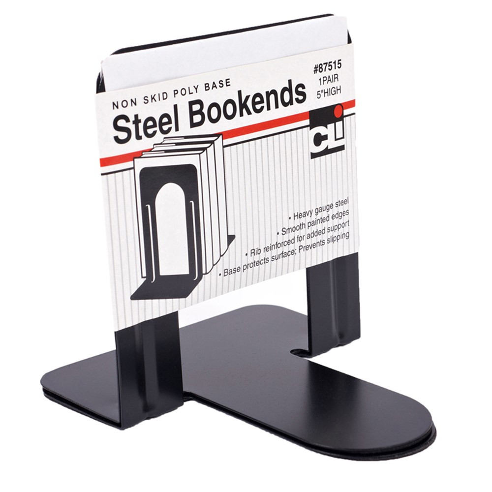 CHL87515 - Bookends 1 Pair 5In Height Black in Bookends