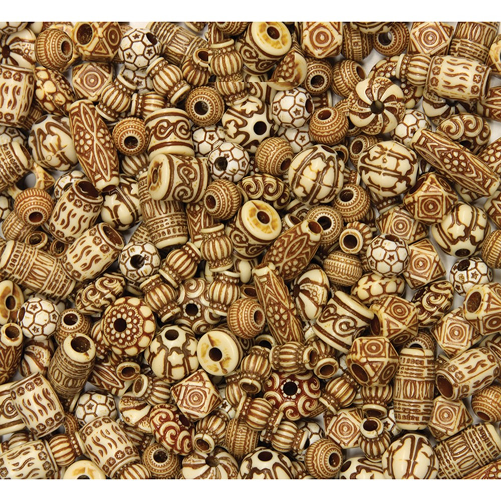 Shaped Beads Mixed Bone Bead Assortment Assorted Sizes 8 Oz Ck 3259 Dixon Ticonderoga Co Pacon Beads
