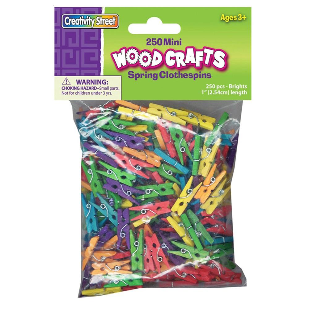 CK-367202 - Mini Spring Clothespins Bright Hues in Clothes Pins