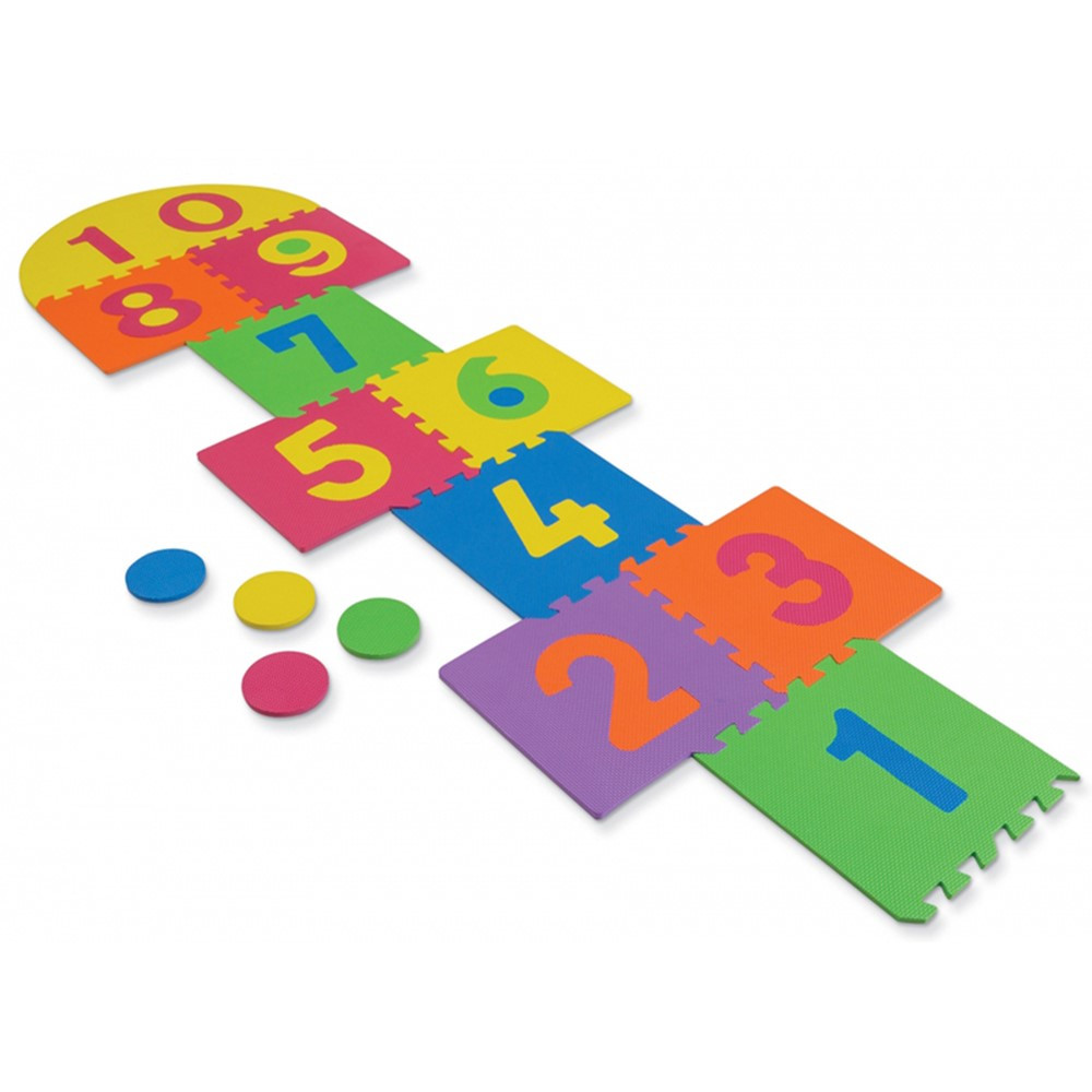 CK-4384 - Wonderfoam Hop Scotch Mat 25 Pcs 12-1/2 X 12-1/2 in Foam