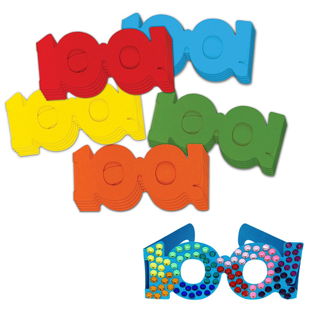 CK-4671 - 100 Days Paper Glasses in Art & Craft Kits