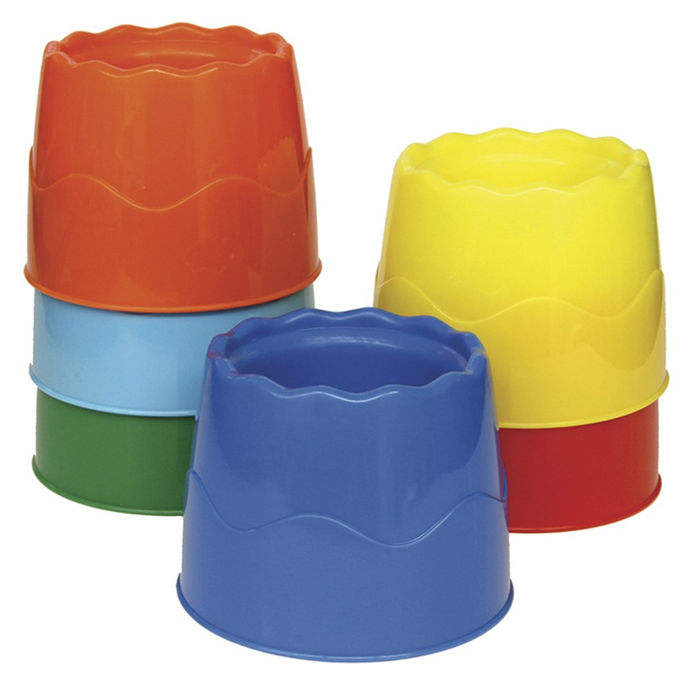 CK-5122 - Stackable 6/Set Water Pots Assorted Colors 4.5 X 3.5 in Containers