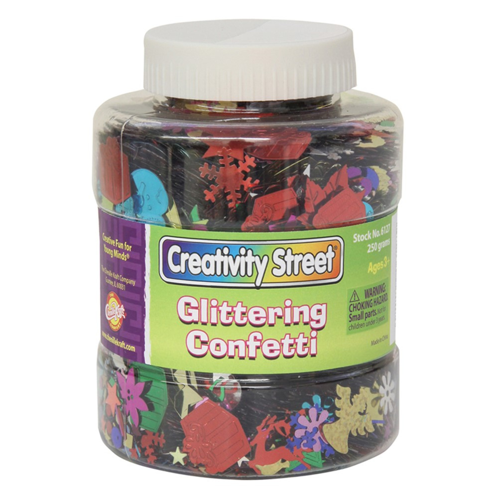 CK-6127 - Shaker Jar Glittering Confetti in Glitter