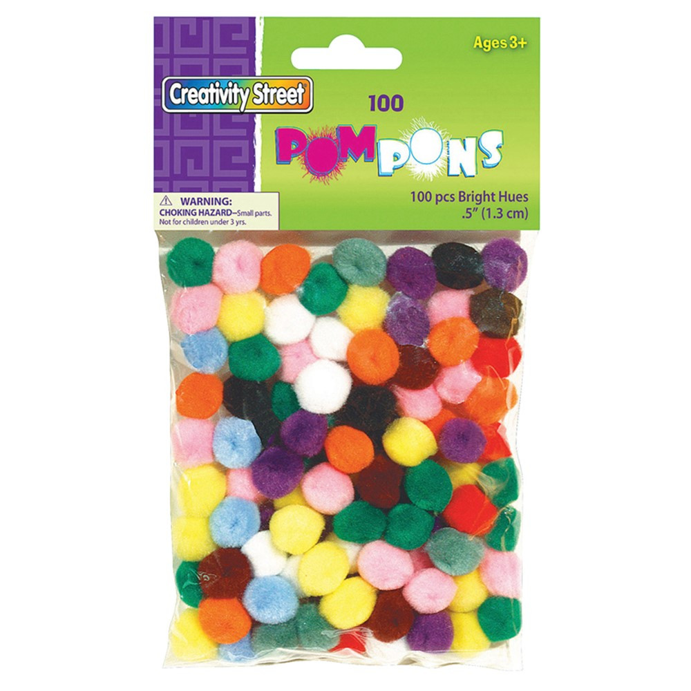 CK-811401 - Pom Pons Assorted 1/2 Inch in Craft Puffs