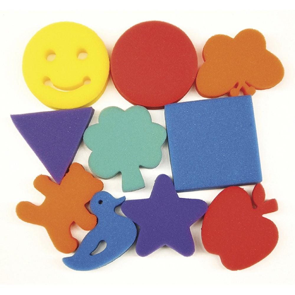 CK-9075 - Familiar Shapes Sponge Set 10 Pcs in Paint Accessories