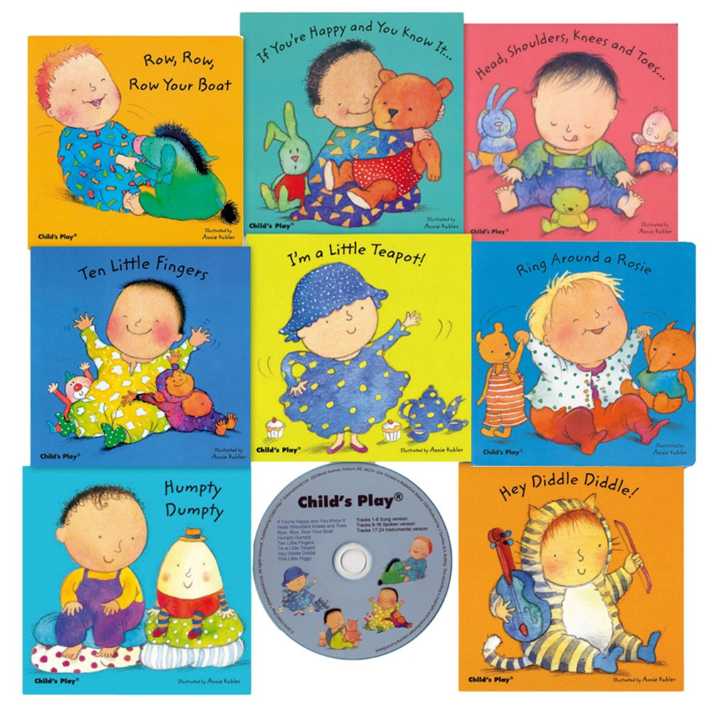 Nursery Rhyme Board 8 Bk Set W Cd