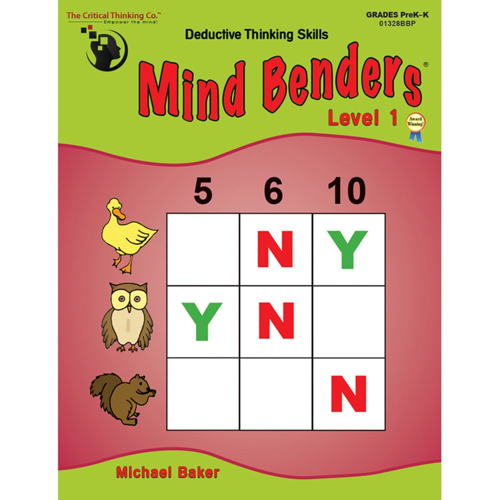 CTB1328 - Mind Benders Beginning Book 1 Gr Pk-K in Games & Activities