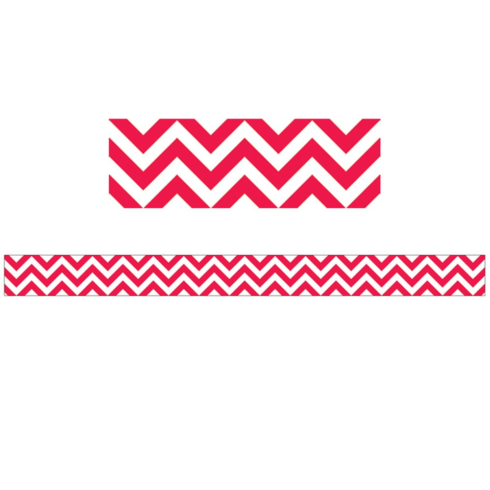 CTP0162 - Poppy Red Chevron Border in Border/trimmer