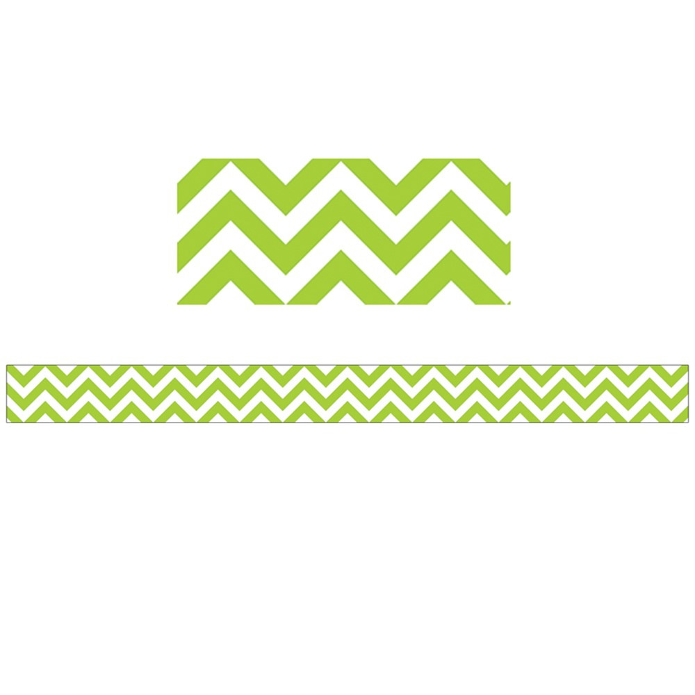 CTP0164 - Lime Green Chevron Border in Border/trimmer