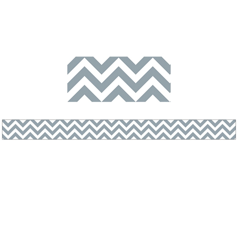 CTP0167 - Slate Grey Chevron Border in Border/trimmer
