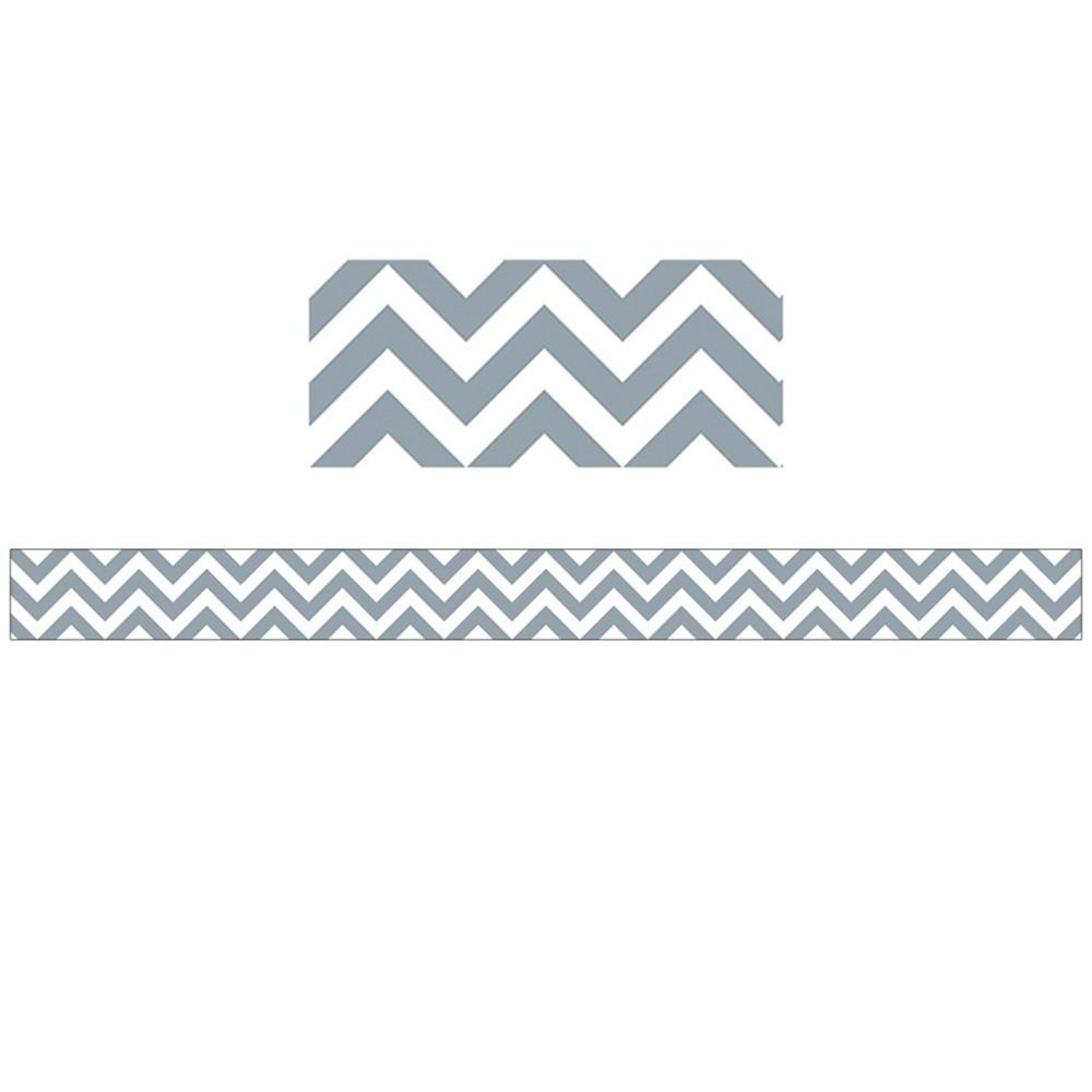 CTP0167 - Slate Grey Chevron Border in Border/trimmer