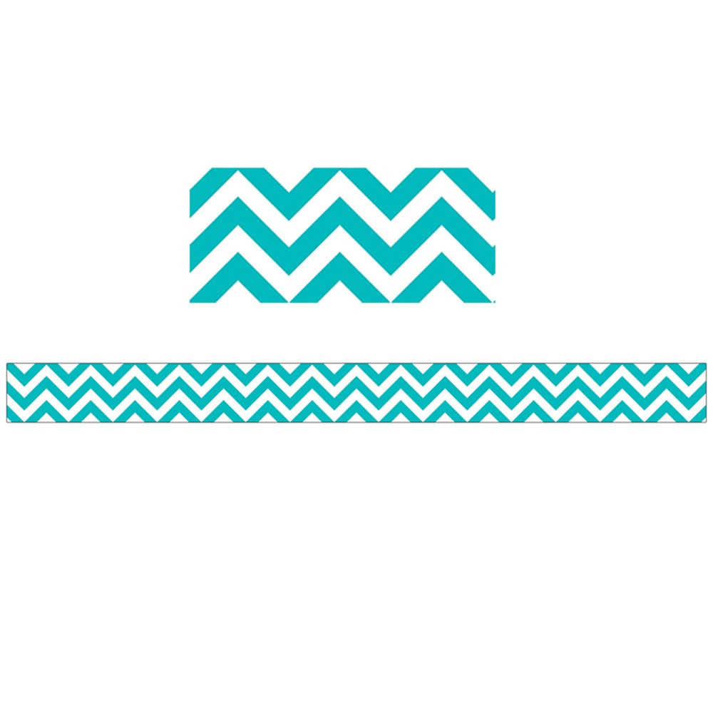 CTP0169 - Turquoise Chevron Border in Border/trimmer