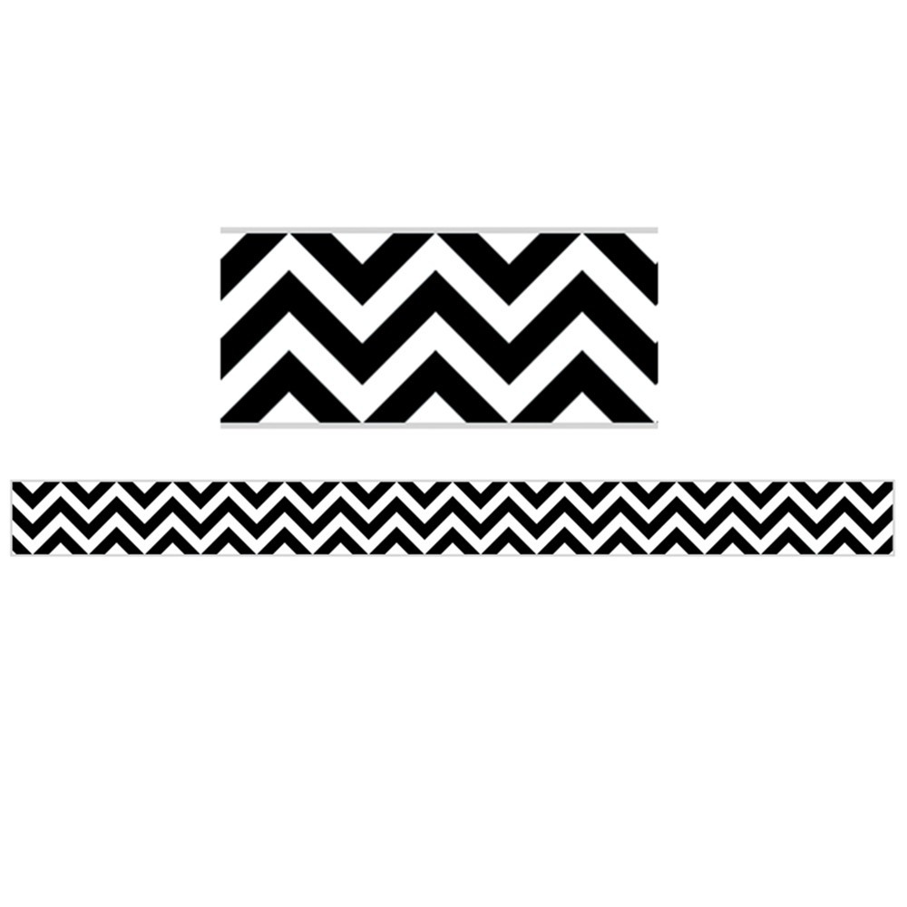 CTP0176 - Black Chevron Border in Border/trimmer