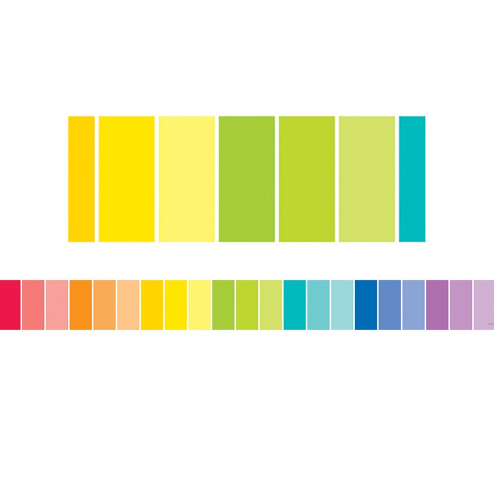 CTP0188 - Rainbow Paint Chip Borders - Paint in Border/trimmer