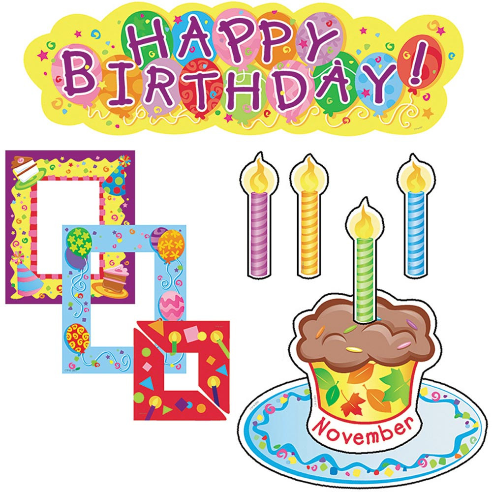 Classroom Decorations Bulletin Board Set ~ Birthdays mini bulletin board set ctp creative