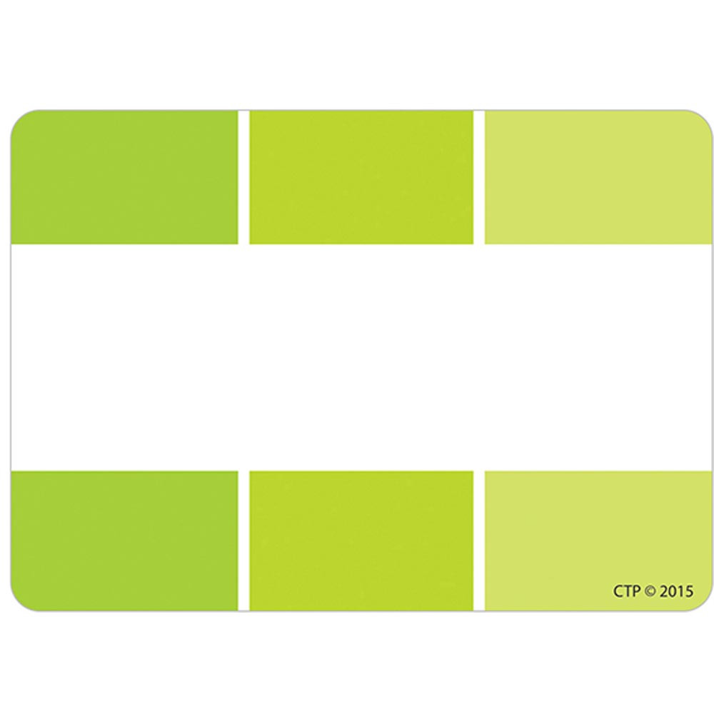 Painted Palette Lime Green Paint Chip Labels Ctp0716 Creative Teaching Press