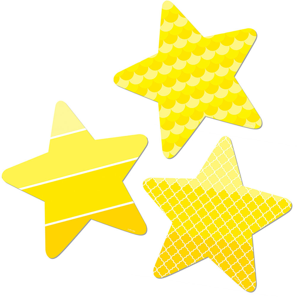 CTP0825 - Stars 3In Cut Outs Painted Palette in Accents