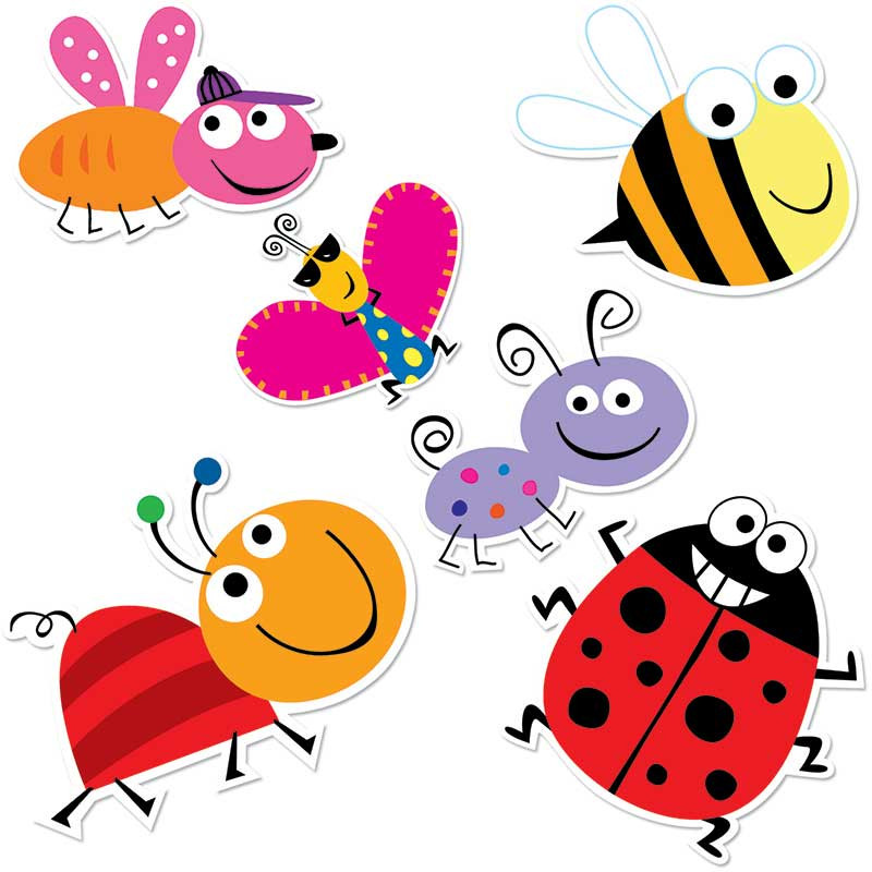 CTP0958 - Bugs 10In Designer Cut Outs in Accents