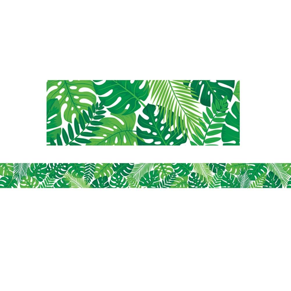 Palm Paradise Tropical Leaves Border 35 Feet Ctp10214 Creative Teaching Press Border Trimmer Small hawaiian flowers clip art. dk classroom outlet