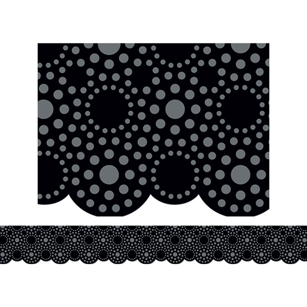 CTP1104 - Lots Of Dots Black Border in Border/trimmer