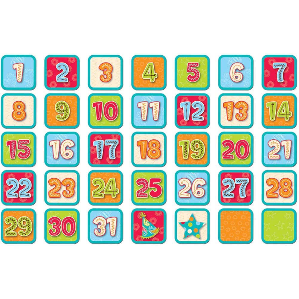 Creative Teaching Press Classroom Decorations ~ Dots on turquoise calendar days ctp creative