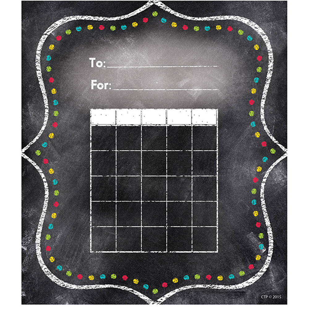 CTP1301 - Charming Dots Student Incentive Chart - Chalk in Incentive Charts
