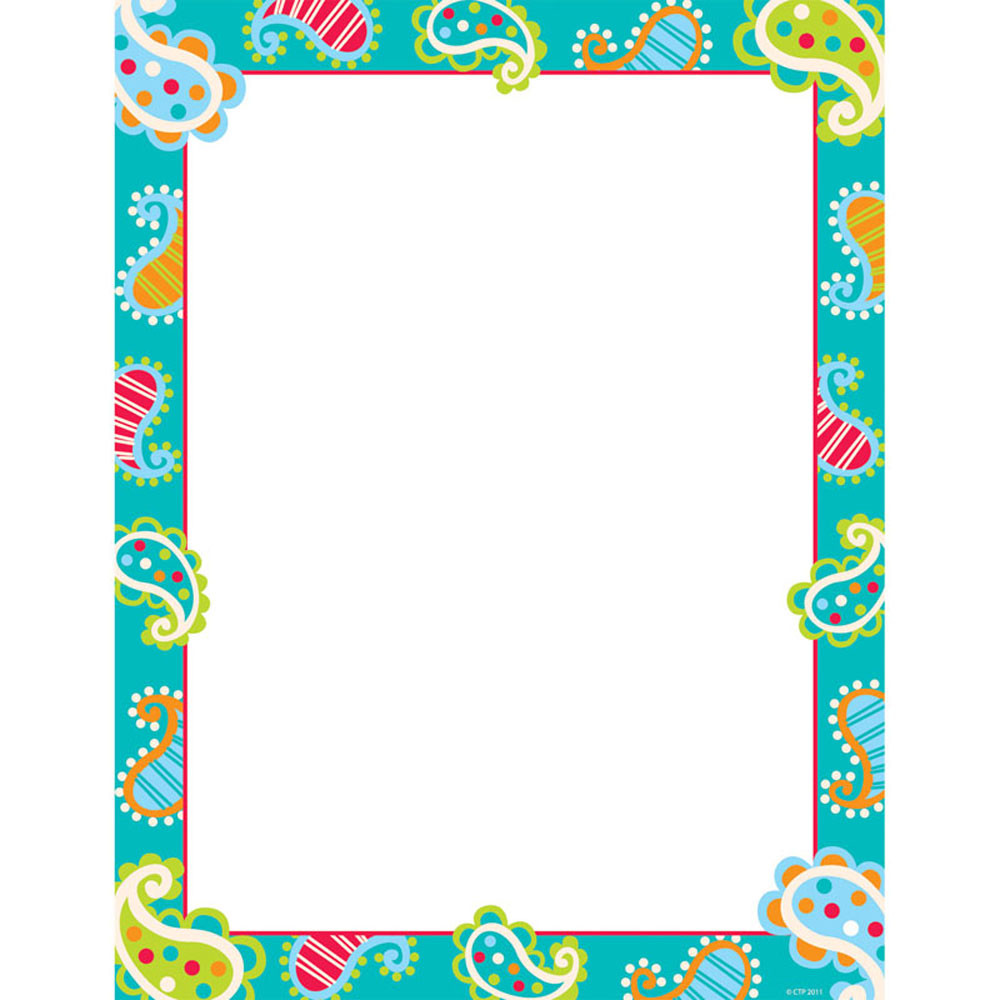 CTP1428 - Playful Paisley Computer Paper in Design Paper/computer Paper