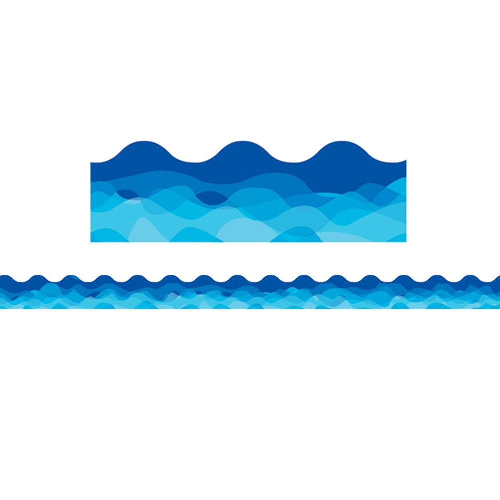 CTP1936 - Waves Of Blue Wavy Border in Border/trimmer