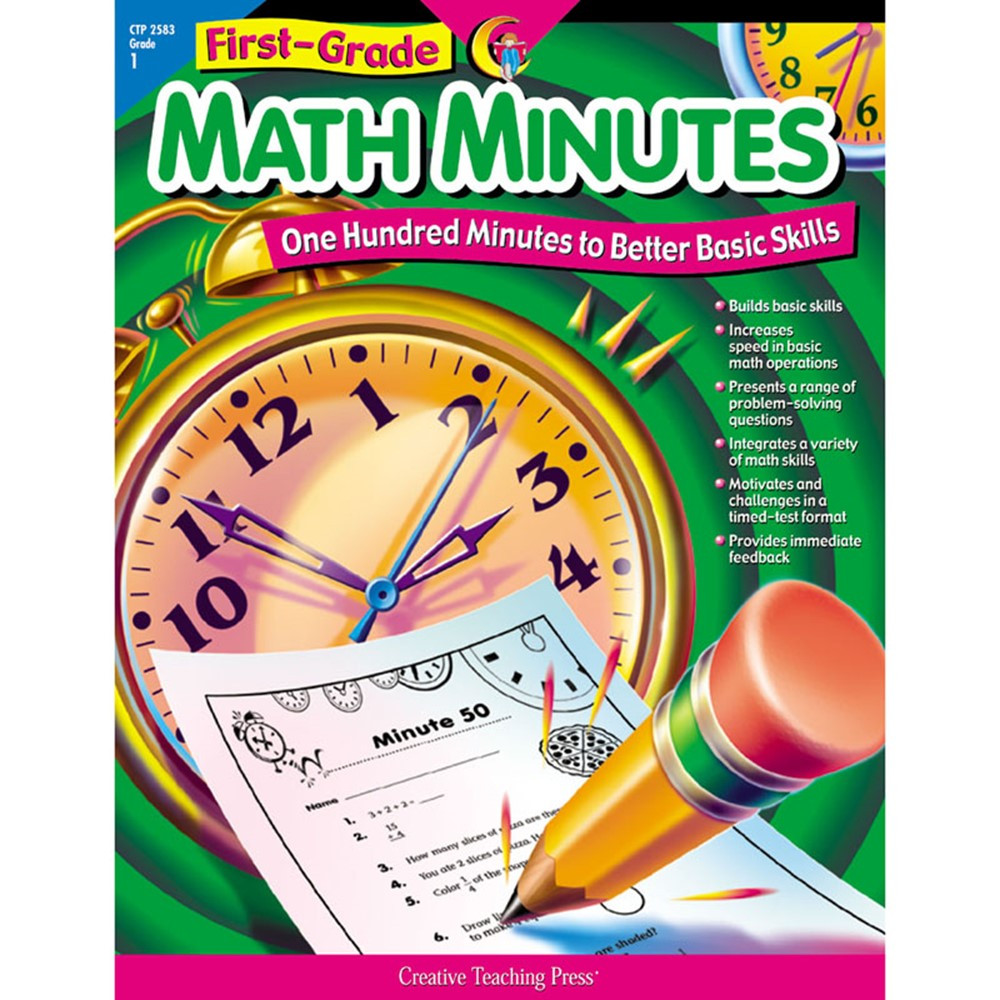 CTP2583 - First-Gr Math Minutes in Activity Books
