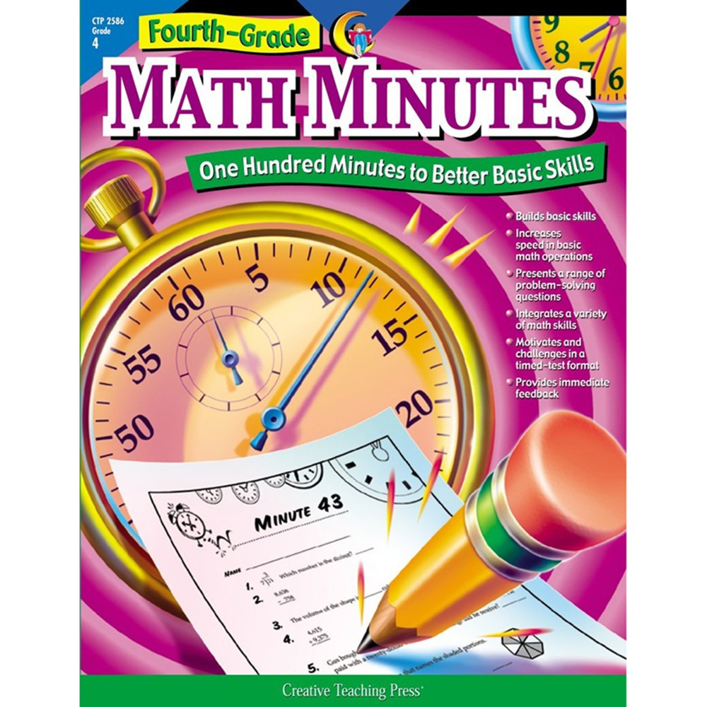 CTP2586 - Fourth-Gr Math Minutes in Activity Books