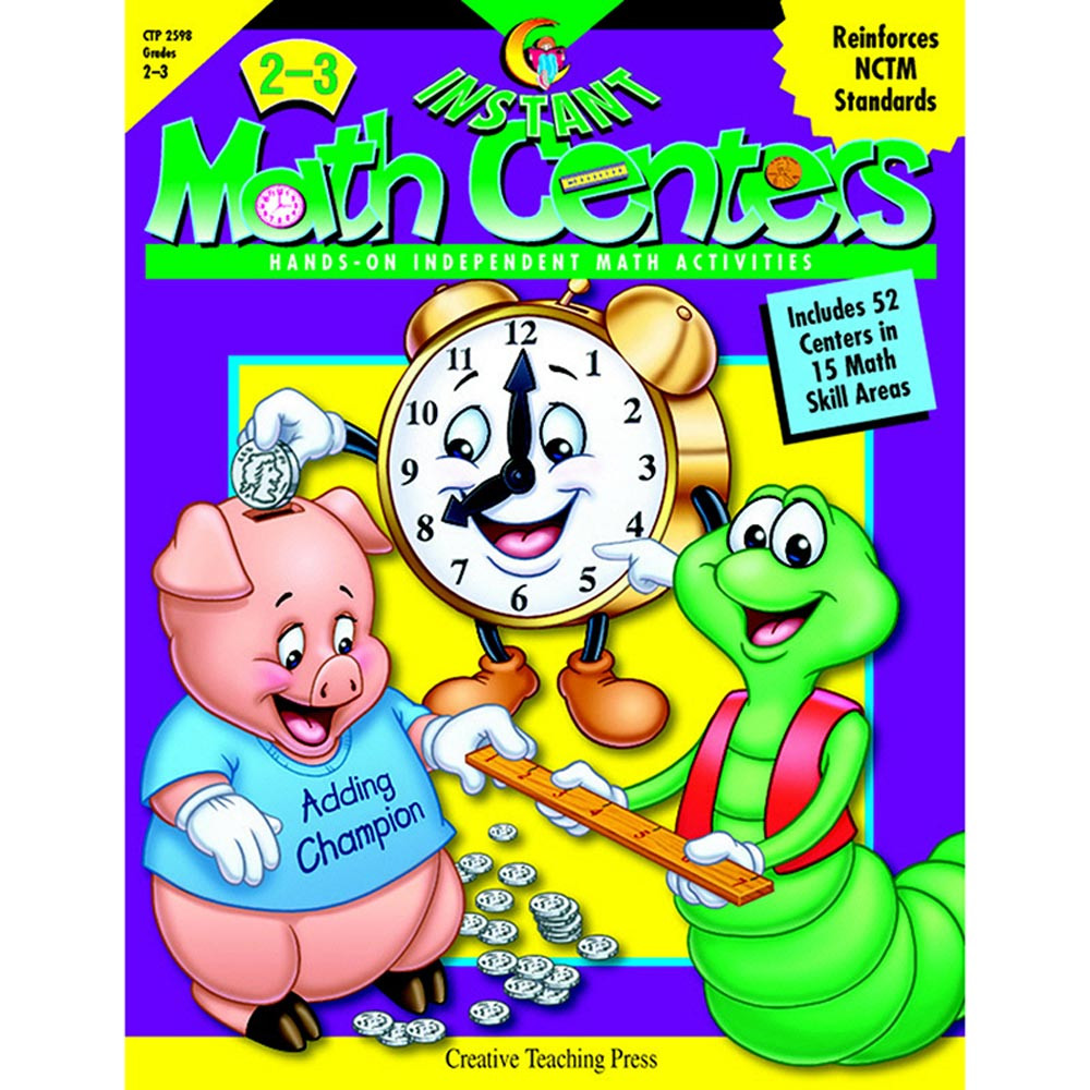 CTP2598 - Instant Math Centers Gr 2-3 in Activity Books