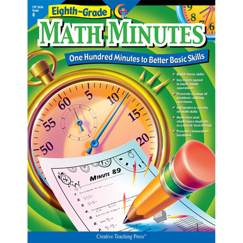 CTP2636 - Math Minutes - 8Th Gr in Activity Books
