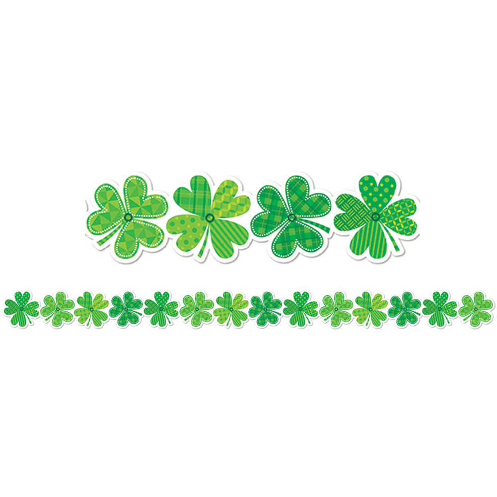 St Patricks Day Vector Background With Shamrock Lucky ... |St Patricks Border
