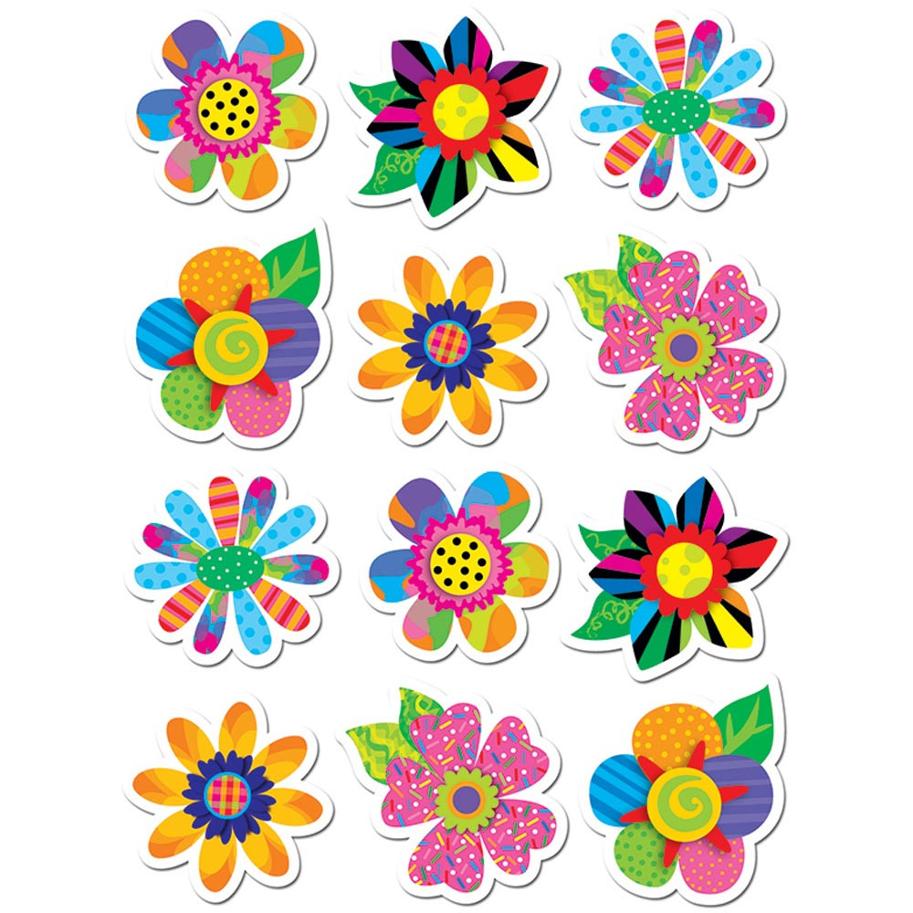 Poppin Patterns Spring Flowers Stickers Ctp4114 Creative