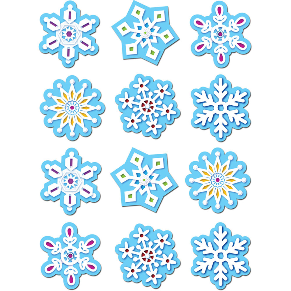 CTP4119 - Snowflakes Stickers in Holiday/seasonal