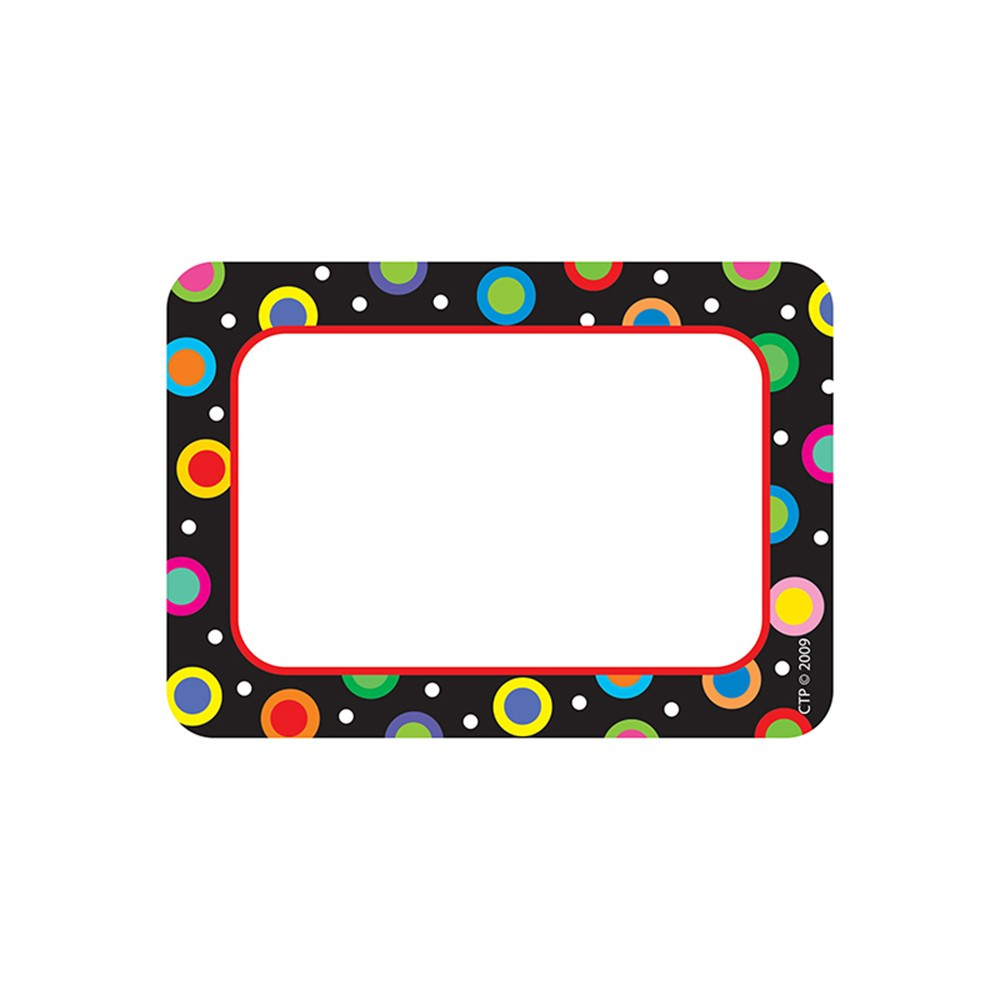 CTP4505 - Dots On Black Name Tags in Name Tags
