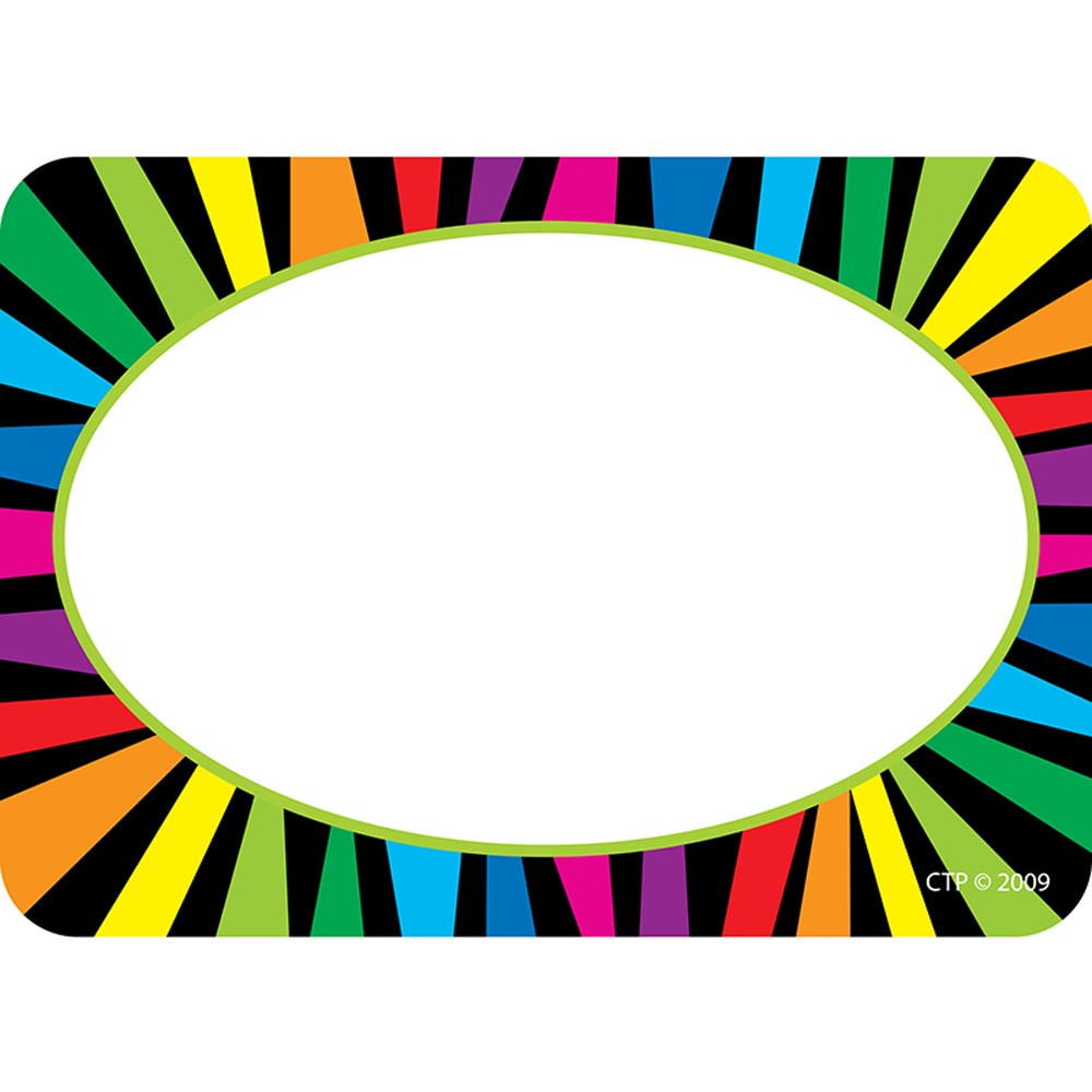 CTP4507 - Rainbow Stripes Name Tags in Name Tags