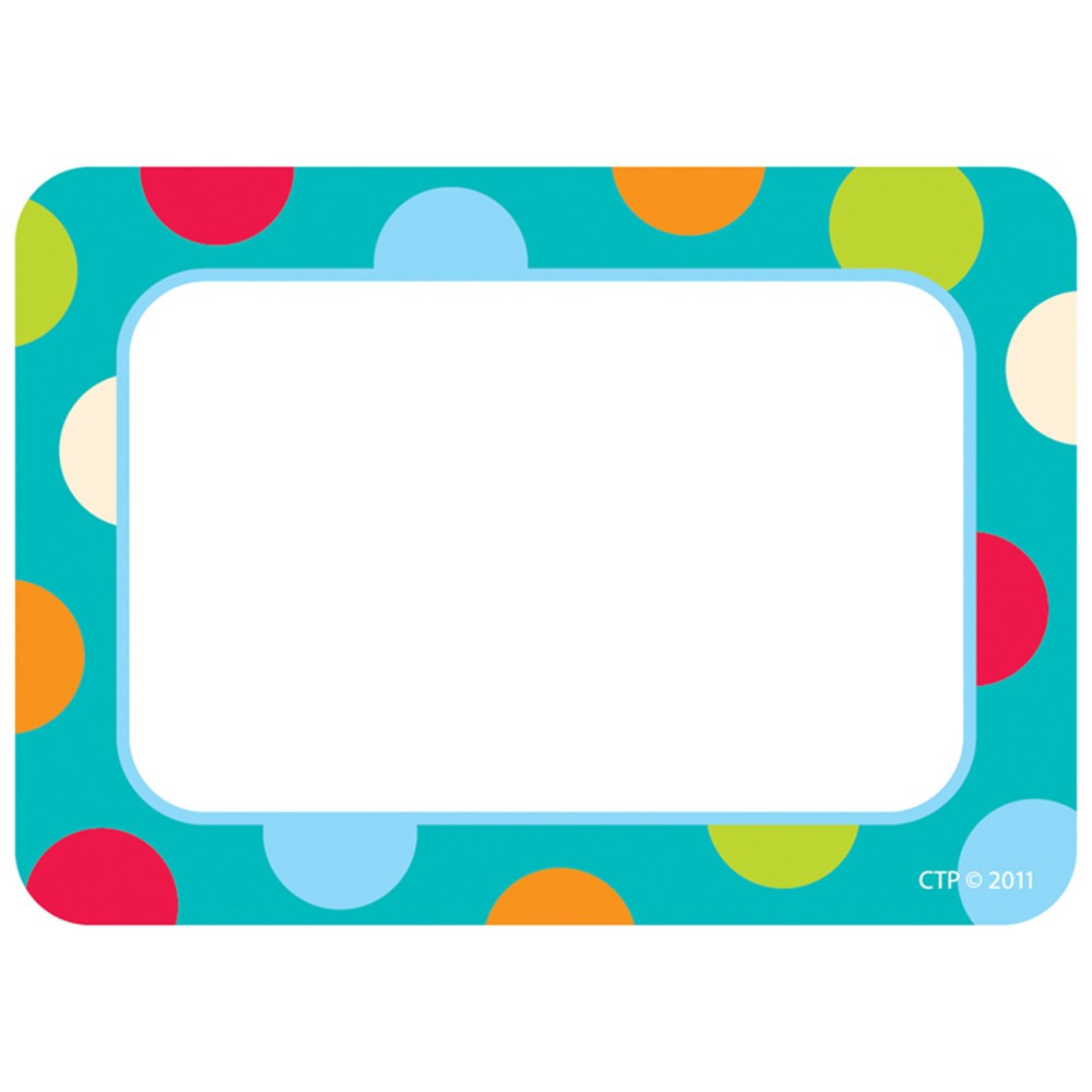 CTP4516 - Dots On Turquoise Name Tags in Name Tags