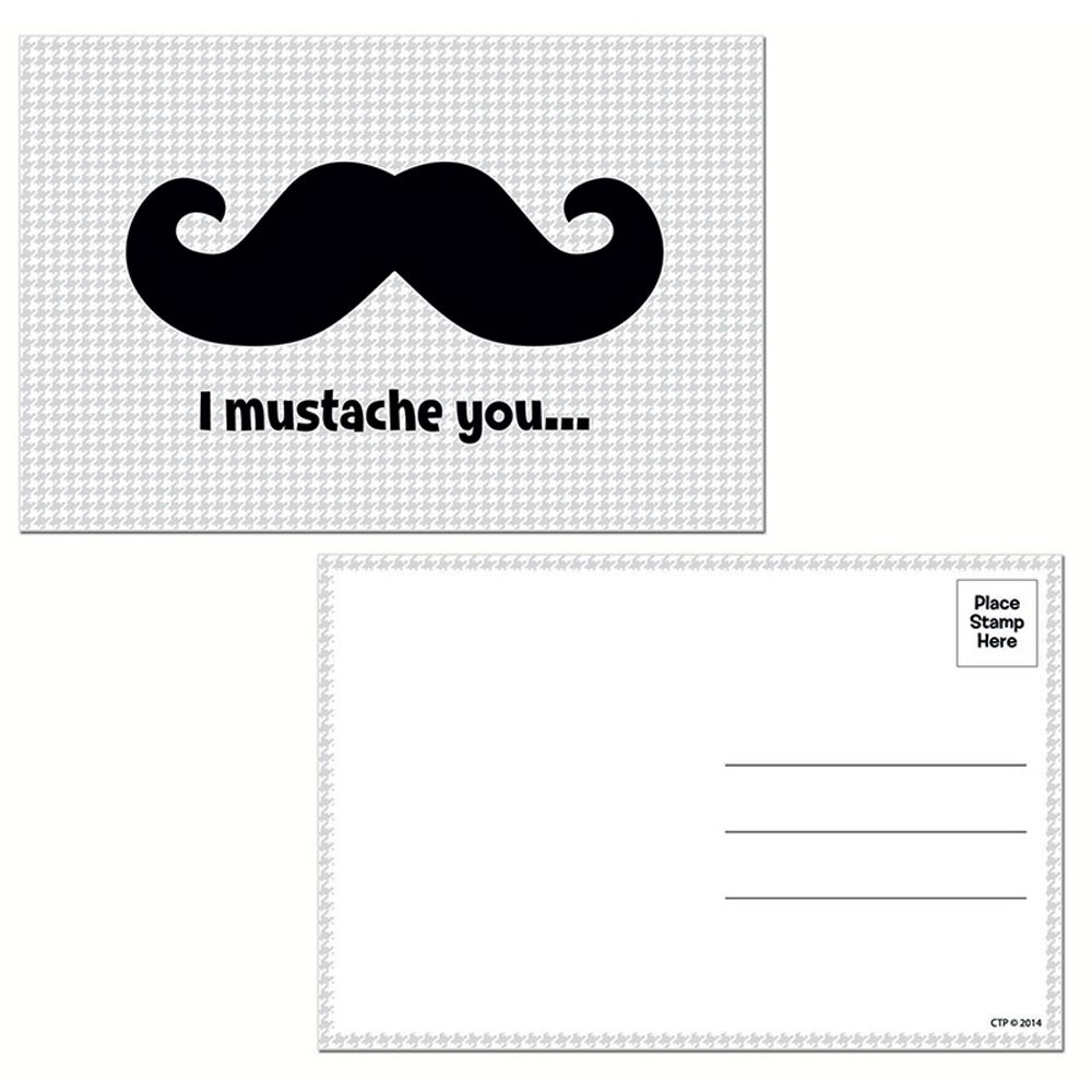 CTP4804 - I Mustache You Postcards in Postcards & Pads