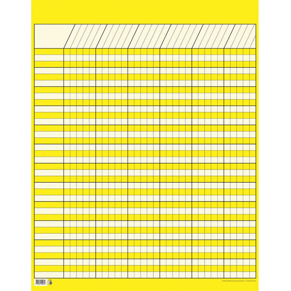 Lg Yellow Vertical Incentive Chart Ctp5062 Creative Teaching Press