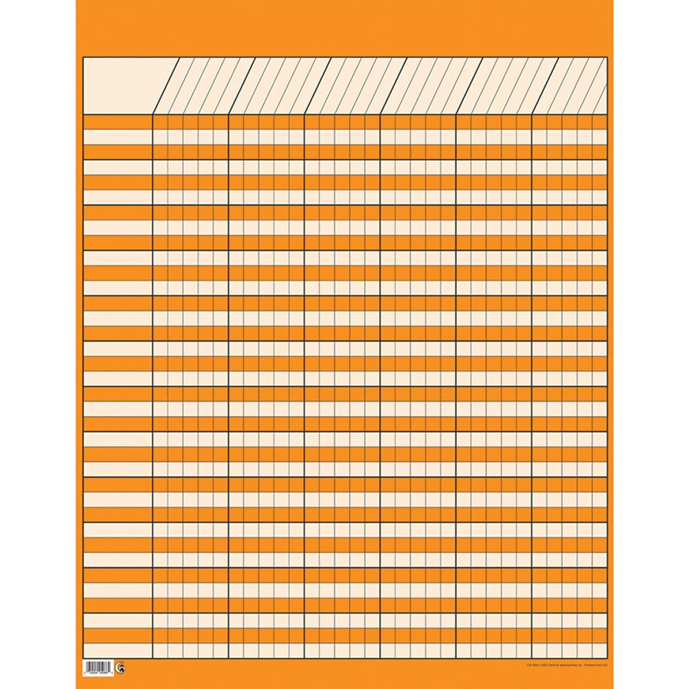 CTP5066 - Lg Orange Vertical Incentive Chart in Incentive Charts