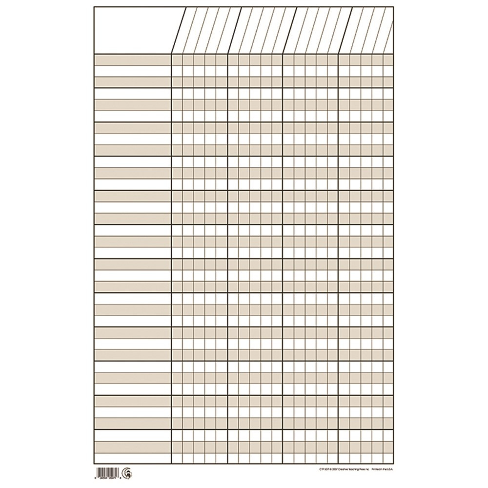 CTP5071 - Chart Incentive Small White 14 X 22 Vertical in Incentive Charts