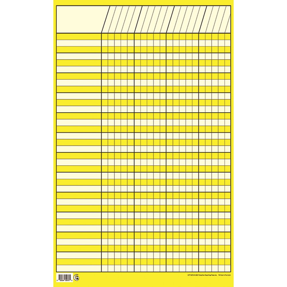 CTP5072 - Chart Incentive Small Yellow 14 X 22 Vertical in Incentive Charts