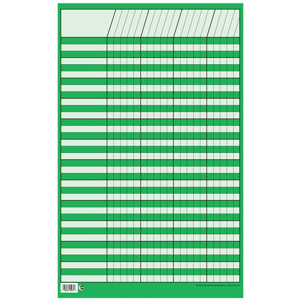 CTP5075 - Chart Incentive Small Green in Incentive Charts