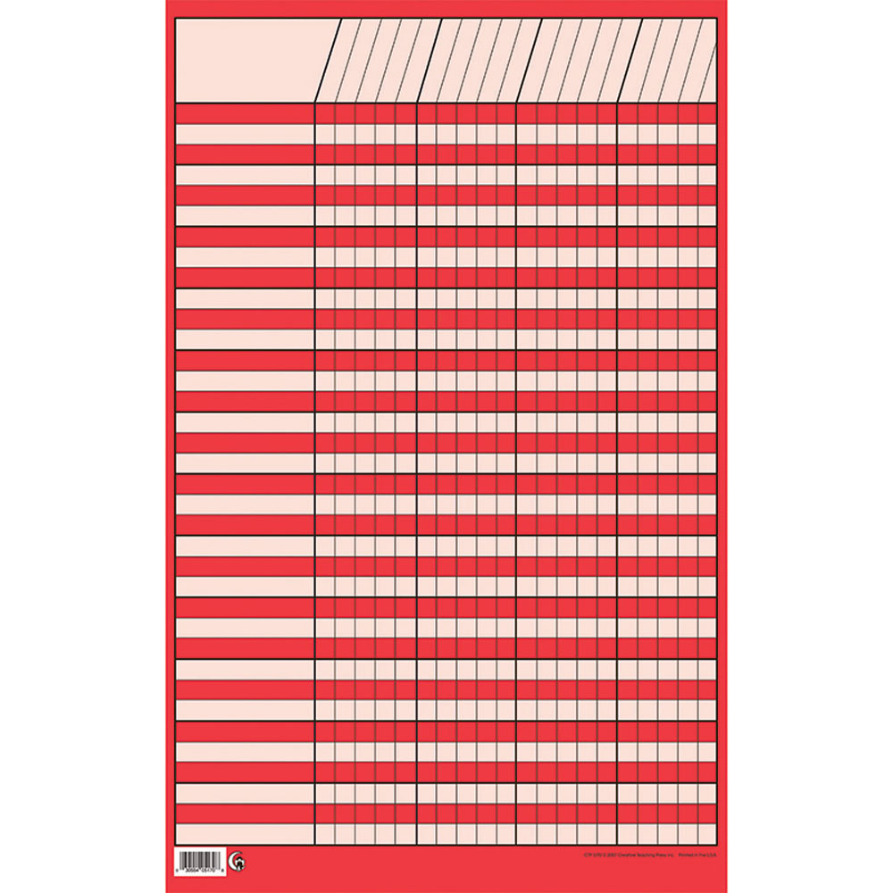 CTP5170 - Sm Red Vertical Incentive Chart in Incentive Charts