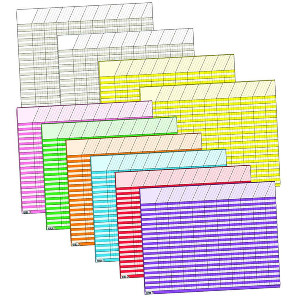 CTP5183 - Chart Big Ten Large Horizontal 10Pk 22 X 28 Assorted in Incentive Charts