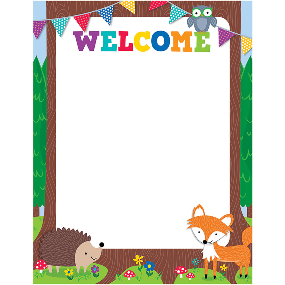 Creative Teaching Press Classroom Decorations ~ Woodland friends welcome chart ctp creative