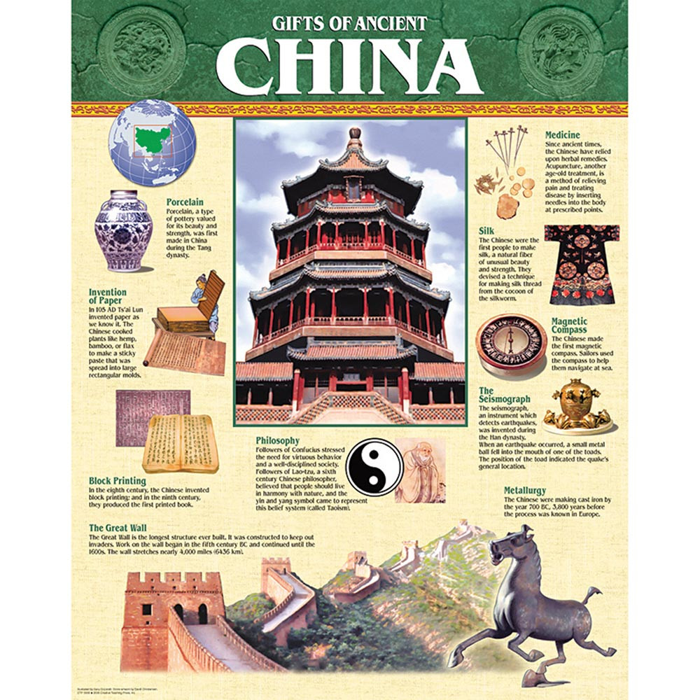 Gifts Of Ancient China Chart Ctp5558 Creative Teaching