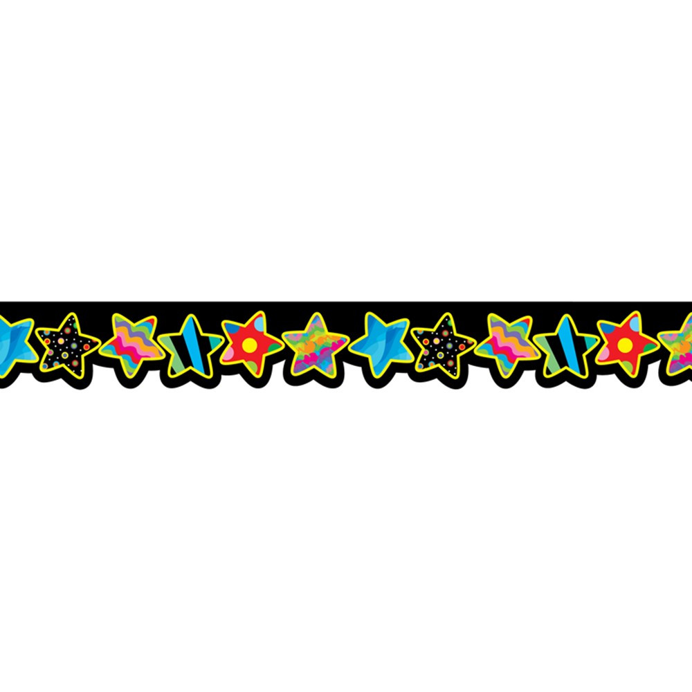 CTP5841 - Poppin Patterns Stars Border in Border/trimmer